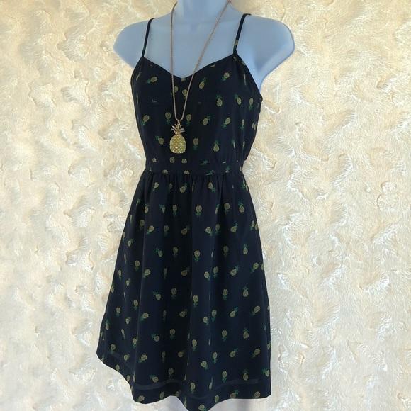 b44de57bc8c J. Crew Factory Dresses   Skirts - J.Crew navy yellow pineapple dress